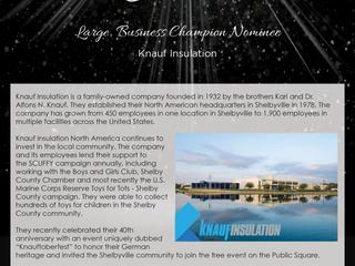 Large Business Champion Nominee: Knauf Insulation