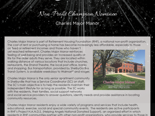 Non-Profit Champion Nominee: Charles Major Manor