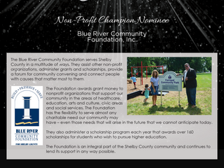 Non-Profit Champion Nominee: Blue River Community Foundation, Inc.