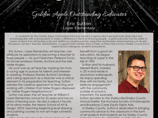 Golden Apple Outstanding Educator: Eric Sutton