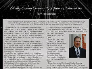 Shelby County Community Lifetime Achievement: Tom Rosenfeld