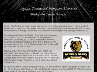 Large Business Champion Nominee: Shelbyville Central Schools
