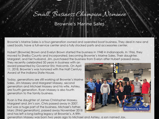 Small Business Champion Nominee: Brownie's Marine Sales
