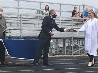 Waldron honors James in commencement ceremony