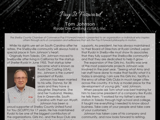 Pay it Forward: Tom Johnson