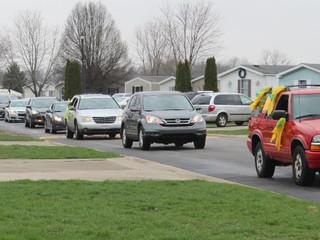 Hendricks teachers surprise students with parade