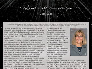 """Beth Case Named """"Dick Kitchin"""" Volunteer of the Year"""