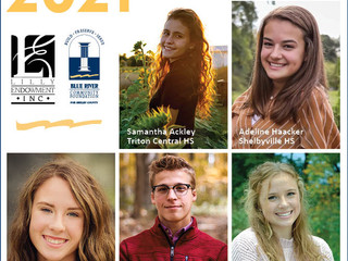 Congratulations to these five 2021 Lilly Endowment Community Scholarship Finalists for Shelby County