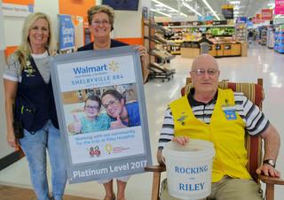 Local Walmart is tops raising money for Riley
