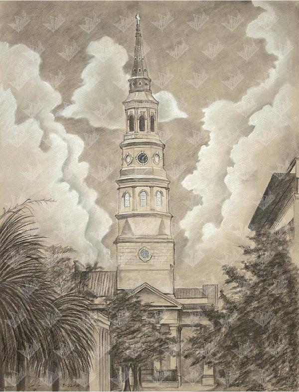 St. Philips Church - Orig 25.5x19.75 cop
