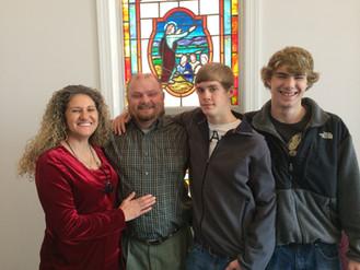 Hartline Family Attend Tom's Creek Baptist Church