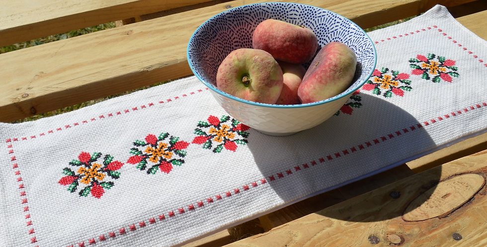 Vintage Ukrainian Embroidered Table Runner