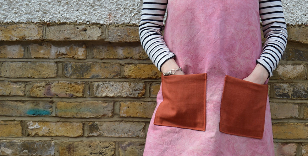 Natural Dye Canvas Cross Over Apron