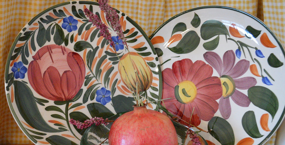 Hand Painted Expressive Floral Plates