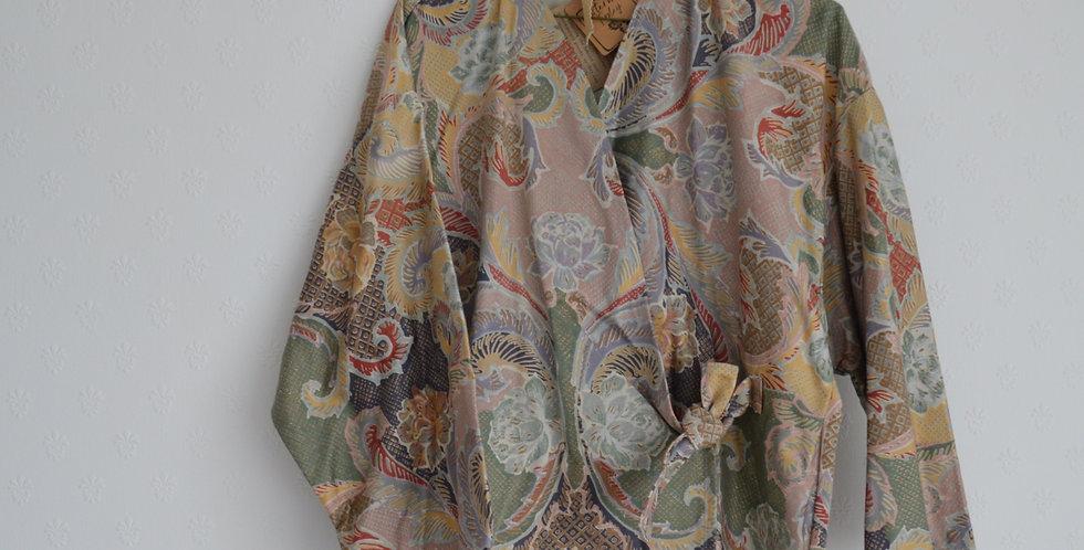 Vintage Rococo Wrap Top
