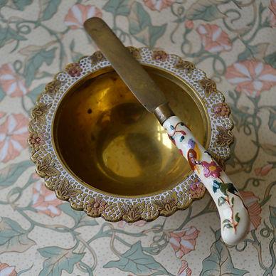 vintage brass butter knife