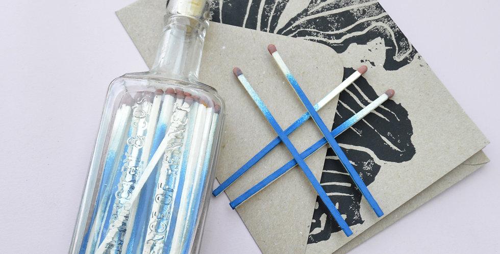 Gift Bundle: Vintage 'Essence of Rennet' Glass Match Jar + Card