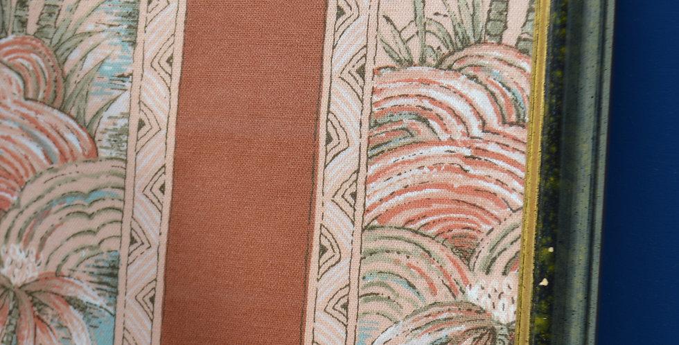 Miami 1970's Tropical Palm Framed Fabric Art