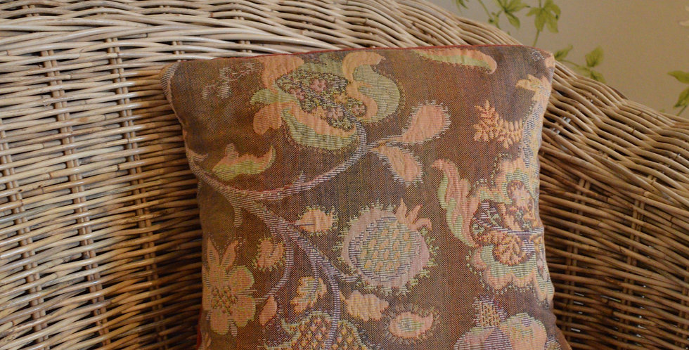 Floral Jacquard Mini Cushion