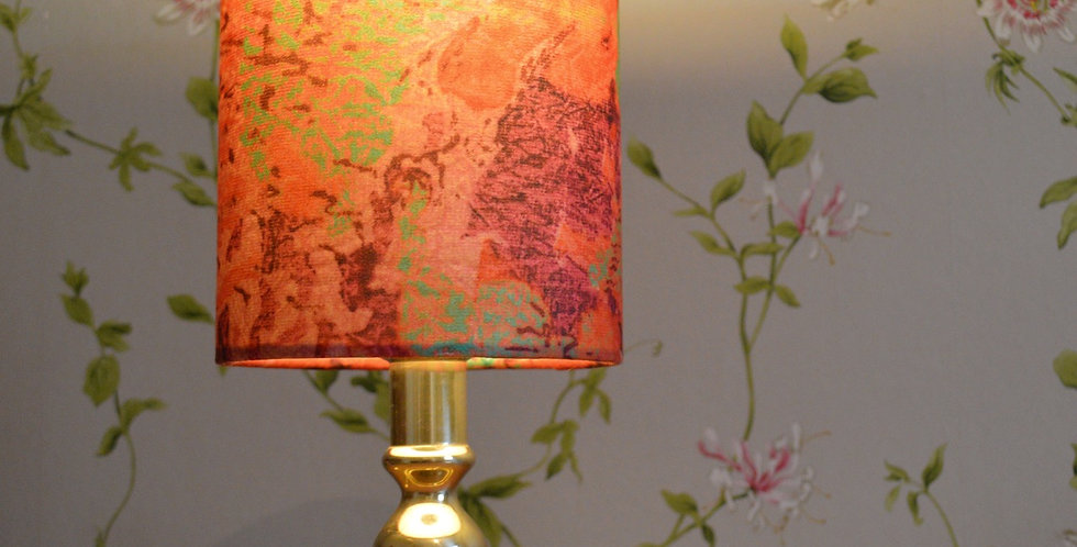 Antique Brass Side Table Lamp + Abstract Shade