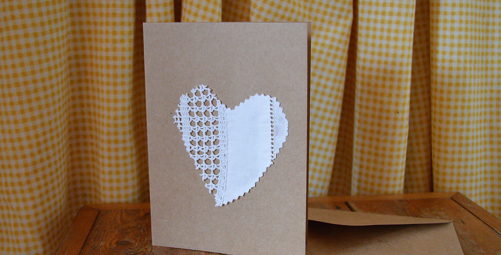Crochet Heart Christmas Card
