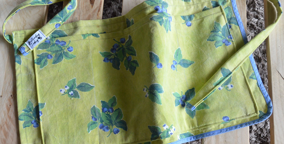 Lime Green Floral Gardening Waist Apron