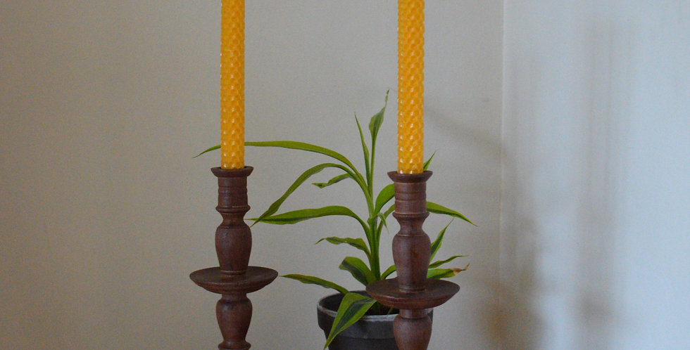 Hand Crafted Wooden Candlesticks