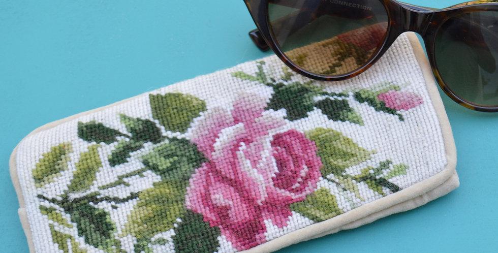 Rose Tapestry Velvet Glasses Case