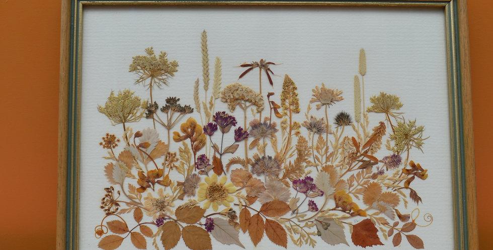 Dried Pressed Flowers Framed Art
