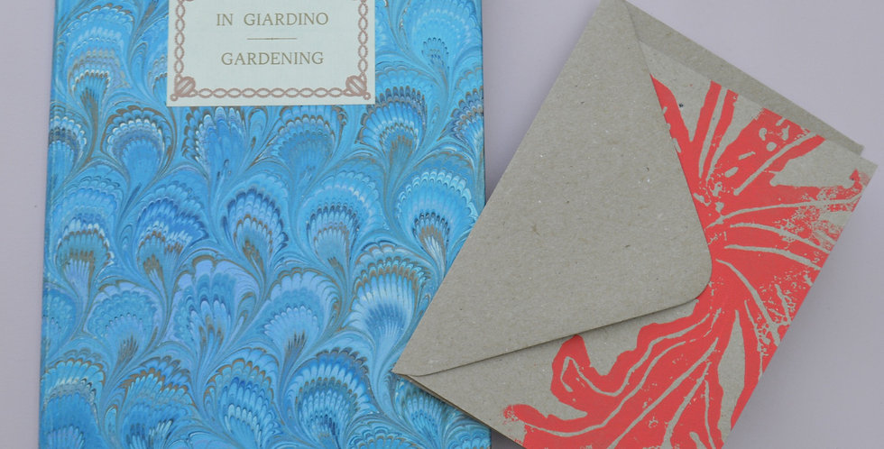Gift Bundle: Il Papiro Italian Marbled Gardening Journal + Card
