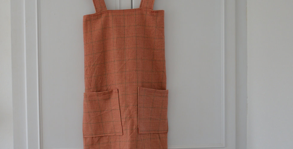 Heavy Weight Woven Red Tartan Apron