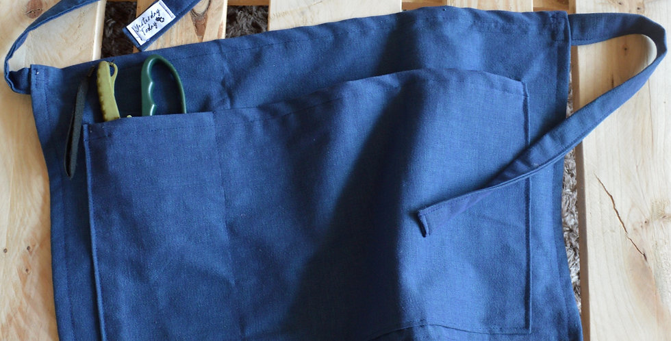 Deep Blue Waist Apron