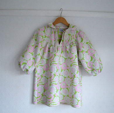Vintage 70's floral balloon sleeve top
