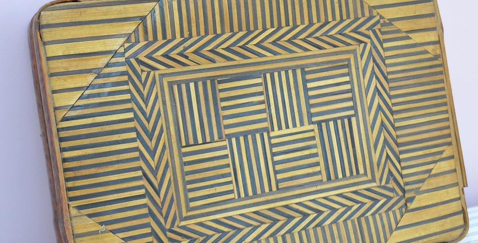 Woven Bamboo Briefcase