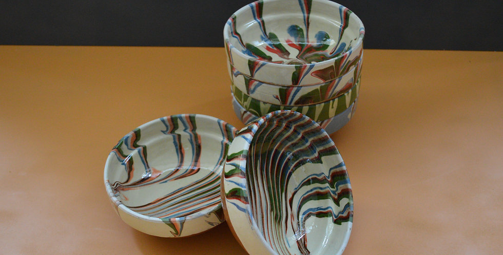 Romanian Marbled Bowls