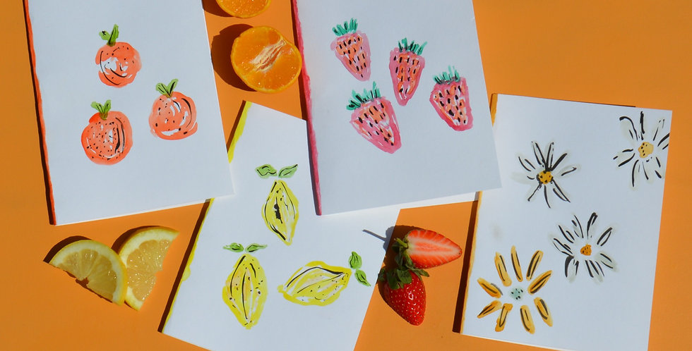 Hand Painted Watercolour Fruit Greeting Card