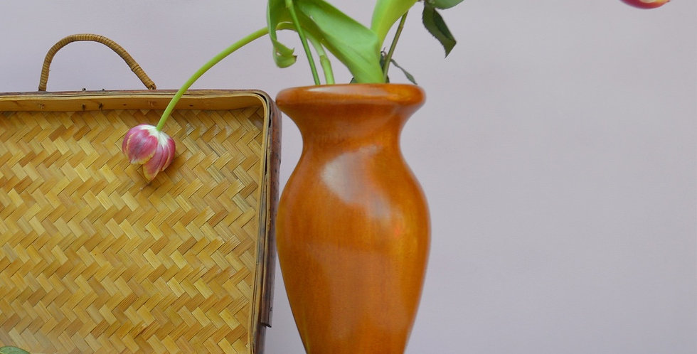 Hand Turned Wooden Vase