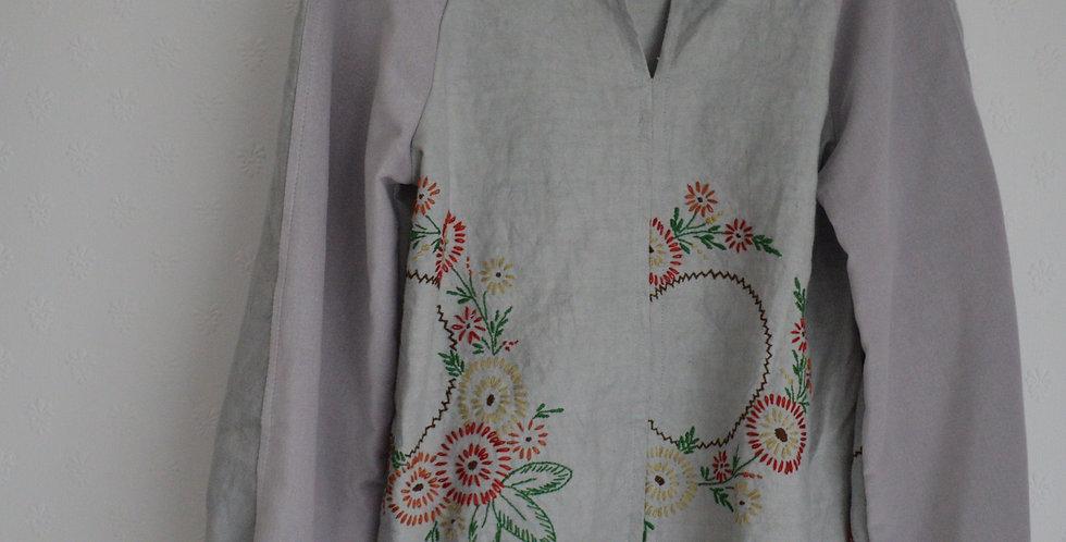Sunburst Floral Linen Velvet Top