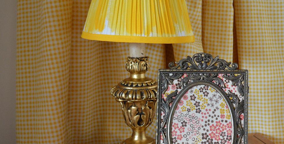 Italian Ornate Framed Ditsy Floral Fabric Art