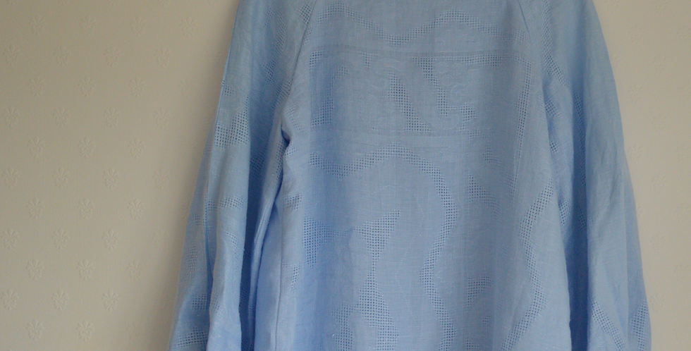 Vintage Baby Blue French Linen Top