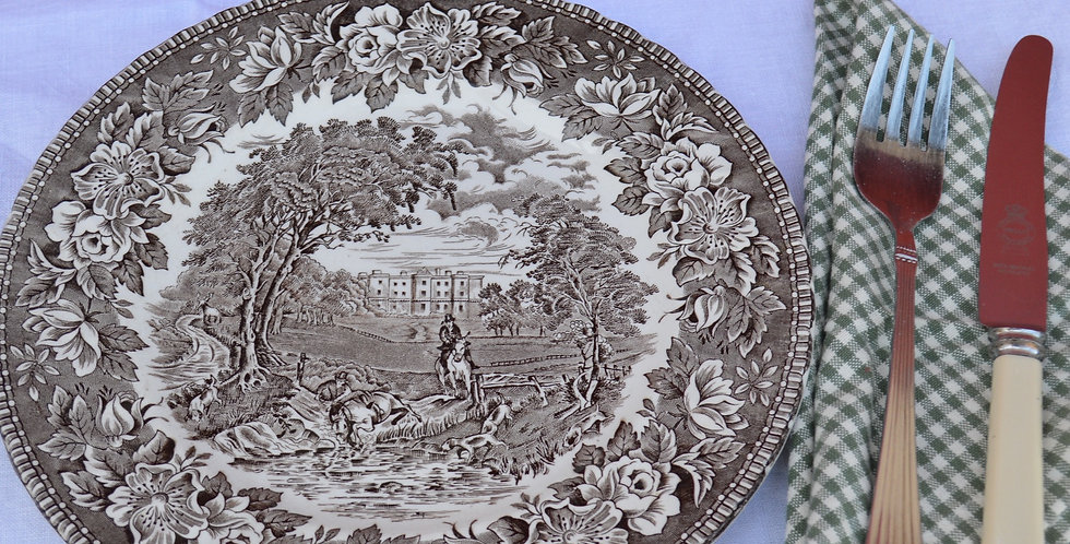 Vintage English Heritage Ironstone Plate