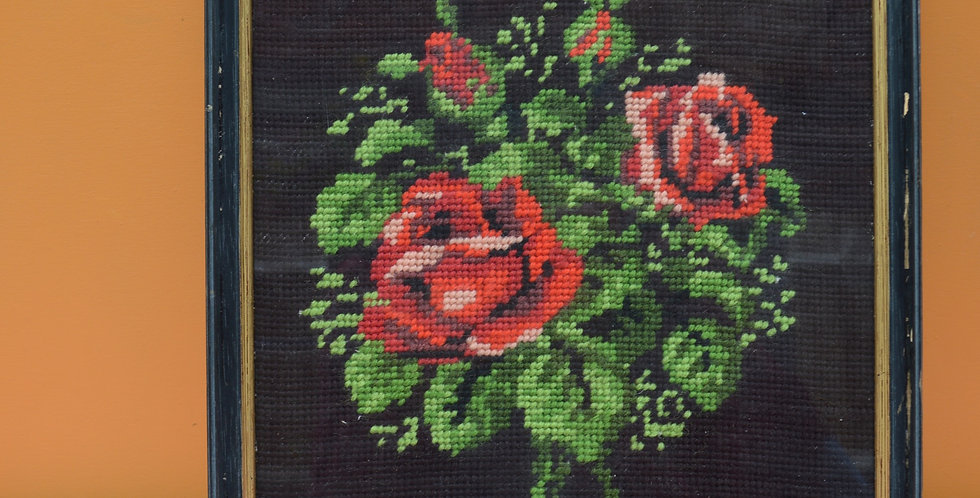 Red Rose Tapestry Framed Art