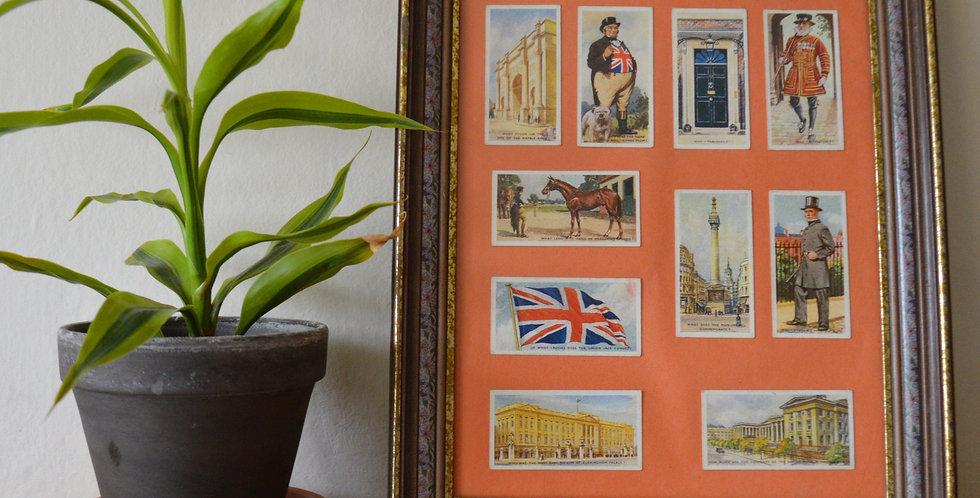 British Themed Cigarette Card Framed Art