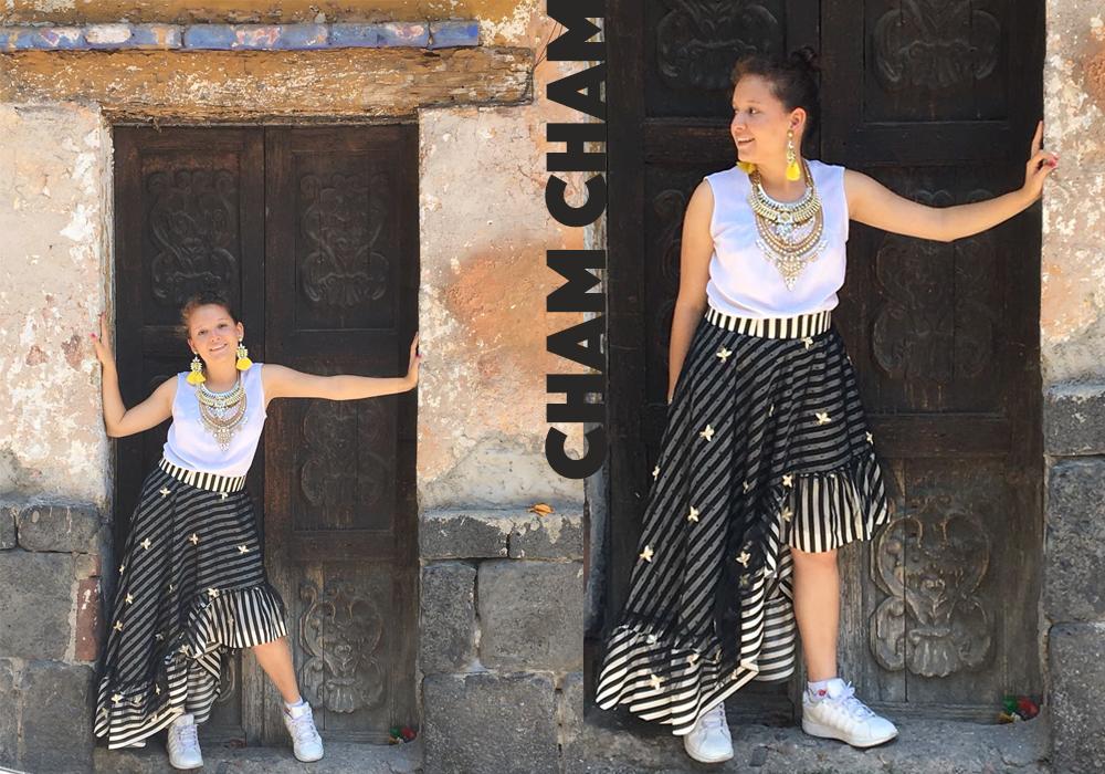 cham cham, moda, fashion, mexican, mexicano, falda, skirt, sustentable, sustainable, moda sustentable, sustainable fashion, responsible fashion, moda responsable