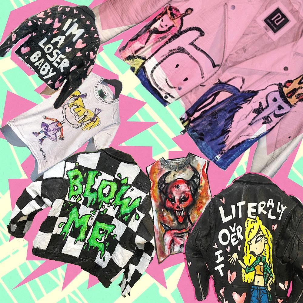 Collage de ropa de Upperkase Clothing de Charity Kase por Fran Bahena