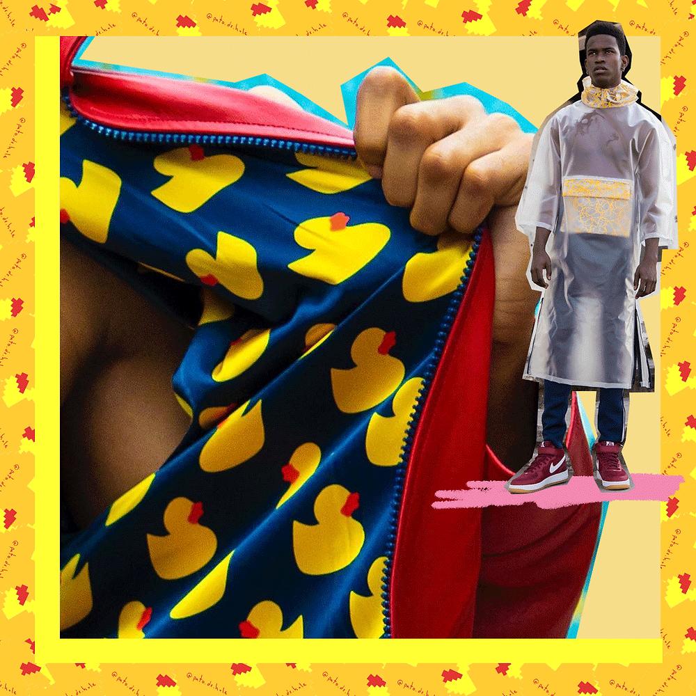 Chamarras doble vista e impermeable de la marca de moda pato de hule, diseño mexicano