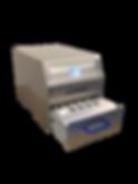 Kompakte, kleine Tisch-Siegel-Maschine für kleine Blistergrössen mit einfachem Werkzeugwechsel und Digitaldisplay.