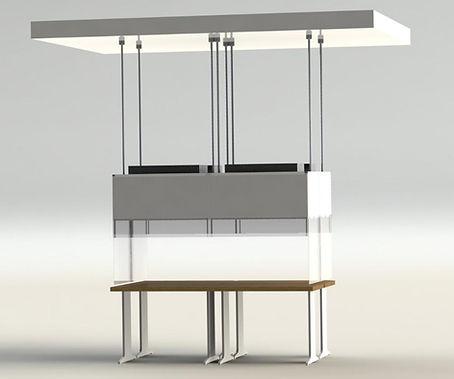 Suspended laminar flow box