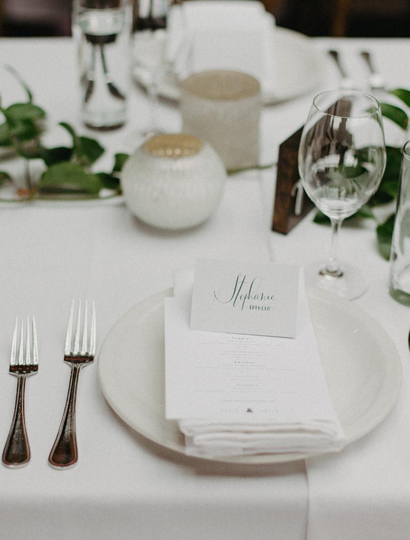 Wedding Reception Table Greenery