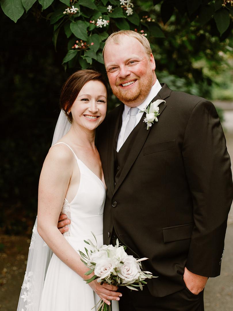 White and Gray Minimalist Wedding